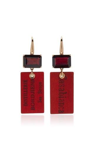 Easy Living 18K Rose Gold Garnet Earrings