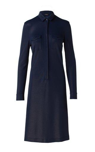 Jersey Midi Shirt Dress