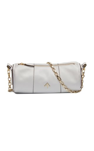 Cylinder Soft Leather Chain-Link Bag