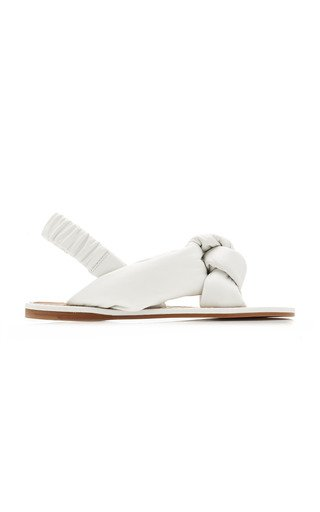 Puffy Leather Sandals