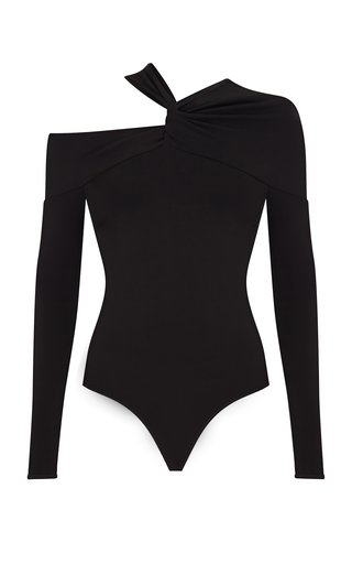 Baylee Asymmetric Twisted Jersey Bodysuit