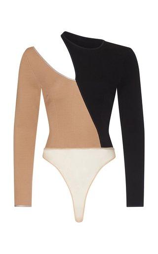 Tamara Cutout Two-Tone Jersey Bodysuit