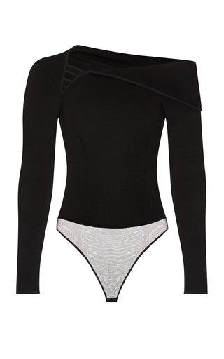 Nyoka Asymmetric Off-The-Shoulder Jersey Bodysuit