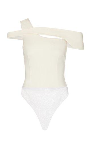 Giolia Asymmetric Off-The-Shoulder Jersey Bodysuit