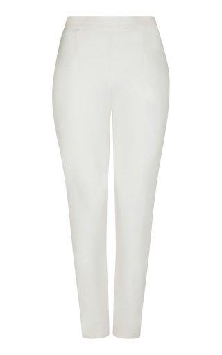 Adrianna Stretch-Crepe Slim-Leg Pants