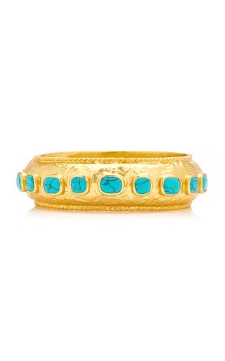 Gaia 24K Gold-Plated Turquoise Bracelet