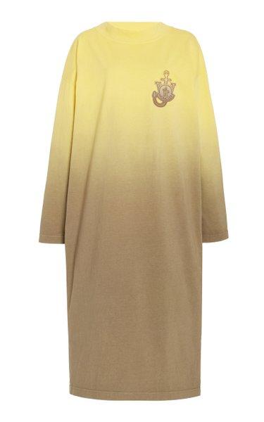 1 Moncler JW Anderson Dégrade Cotton Midi T-Shirt Dress