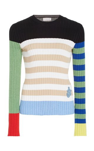1 Moncler JW Anderson Striped Cotton-Blend Sweater