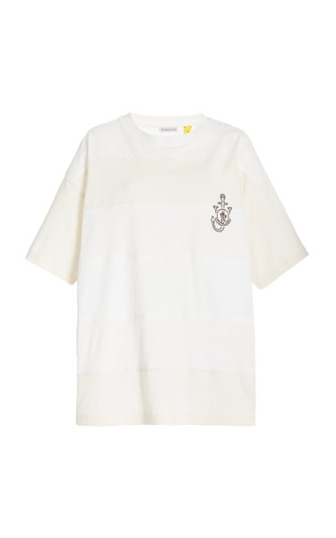 1 Moncler JW Anderson Striped Cotton T-Shirt