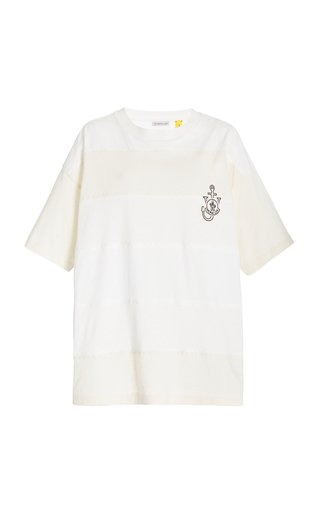 1 Moncler JW Anderson Striped Cotton T-Shirt