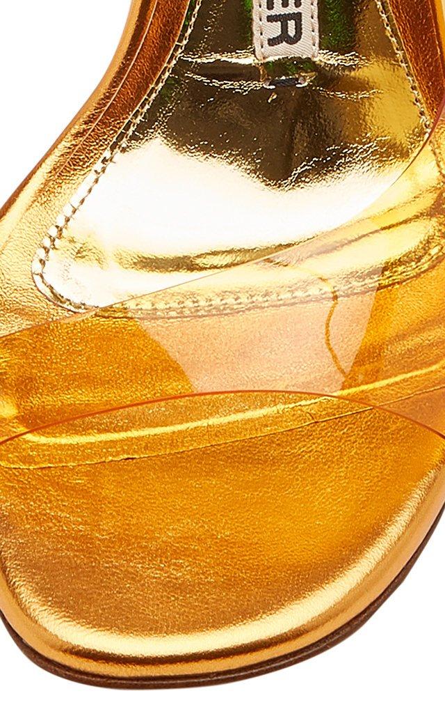 Amber PVC Slingback Pumps