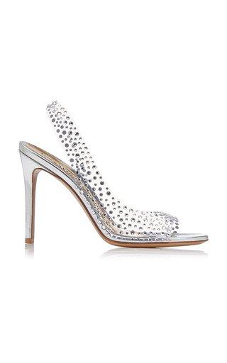 Clara Crystal-Embellished PVC Slingback Sandals