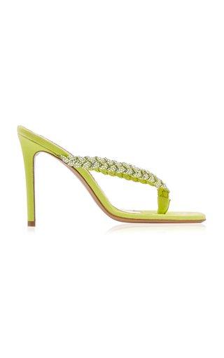 Jojo Embellished Suede Thong Sandals