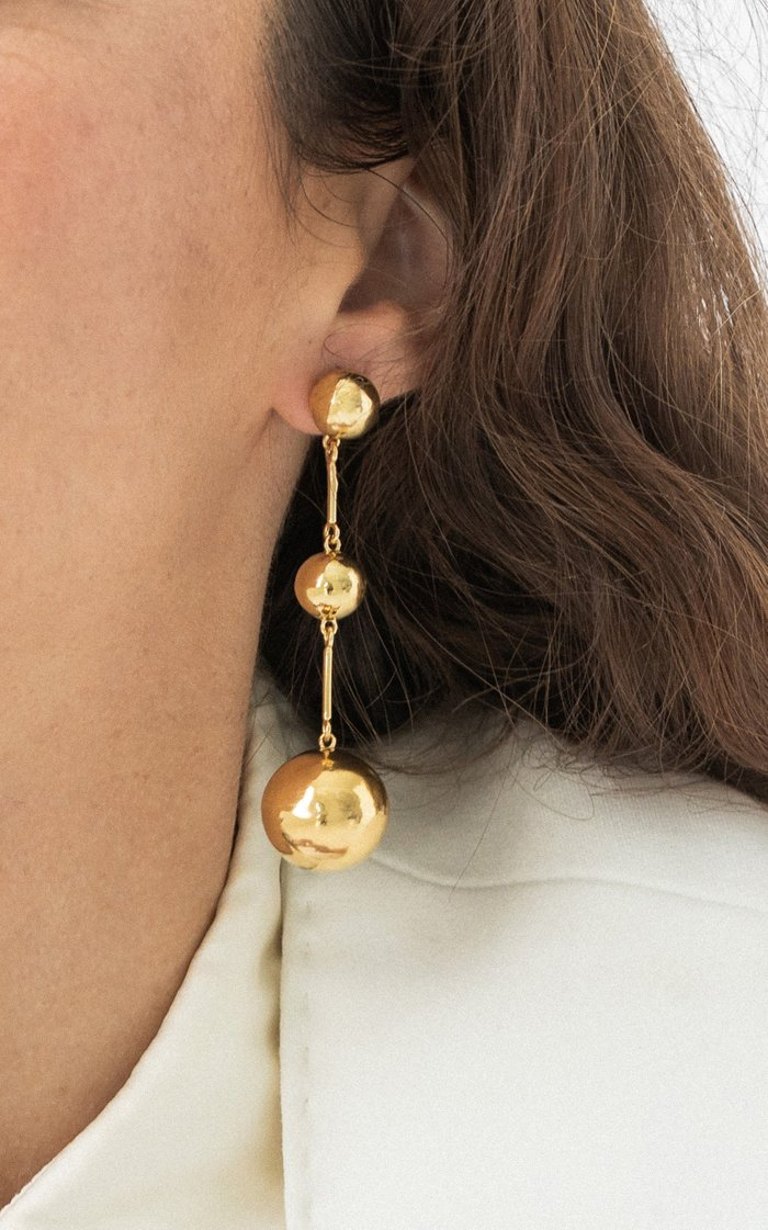 .02 Disco Drop 14K Vermeil Earrings