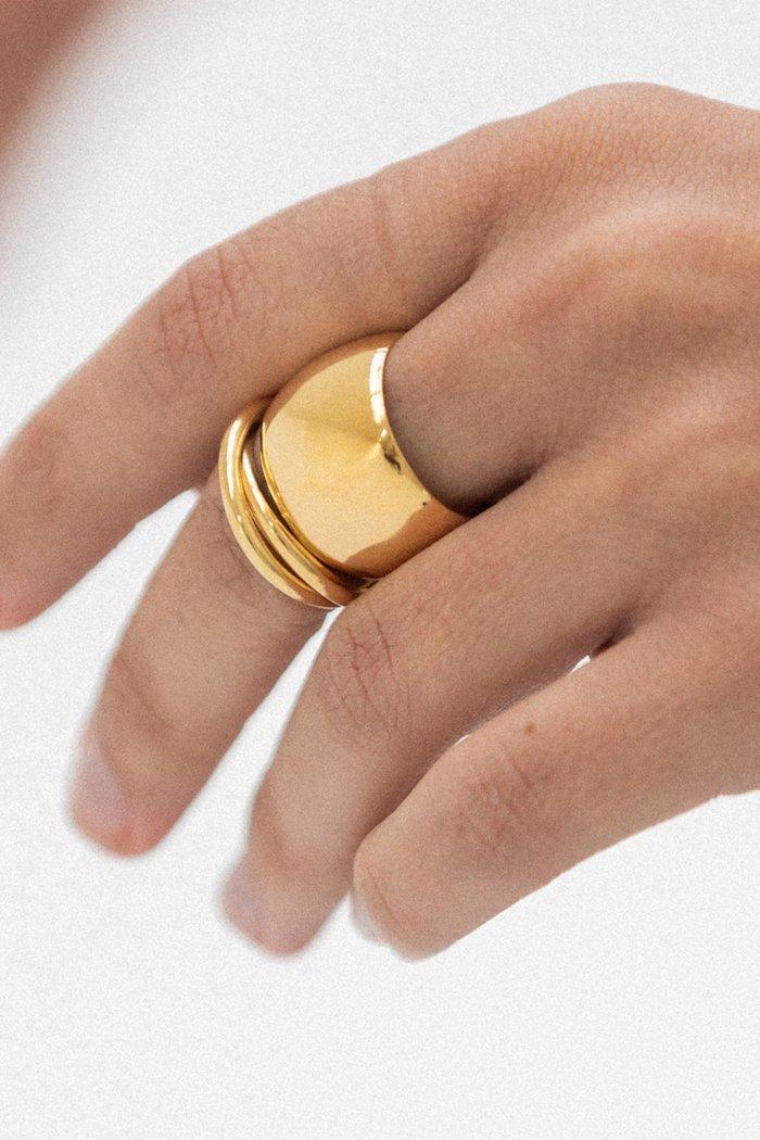 Ricci 14K Vermeil Cigar Band Ring