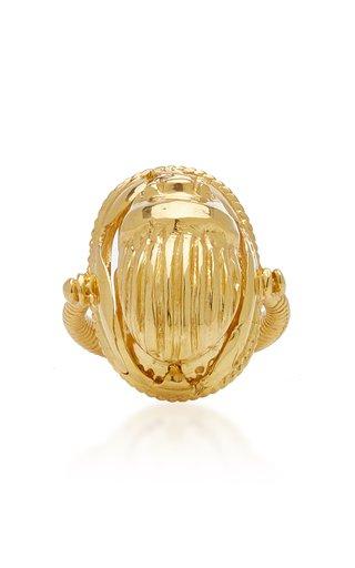 Scarab 18K Gold Vermeil Amulet Ring