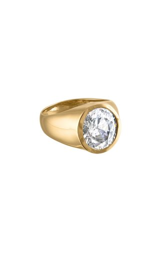 18K Gold Vermeil Signet Ring