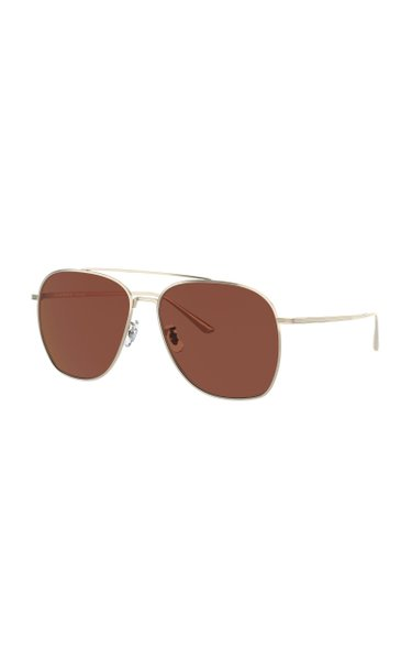 Ellerston Gold-Tone Aviator Sunglasses