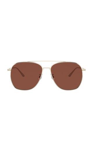 Ellerston Gold-Tone Aviator Sunglasses