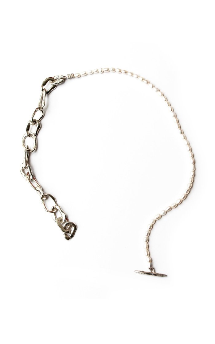Tomi Chain And Pearl Sterling Silver Necklace