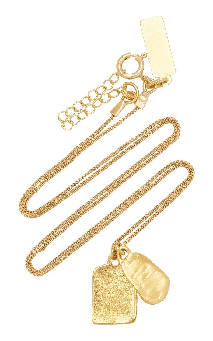 Tina Coated Gold Pendant Necklace