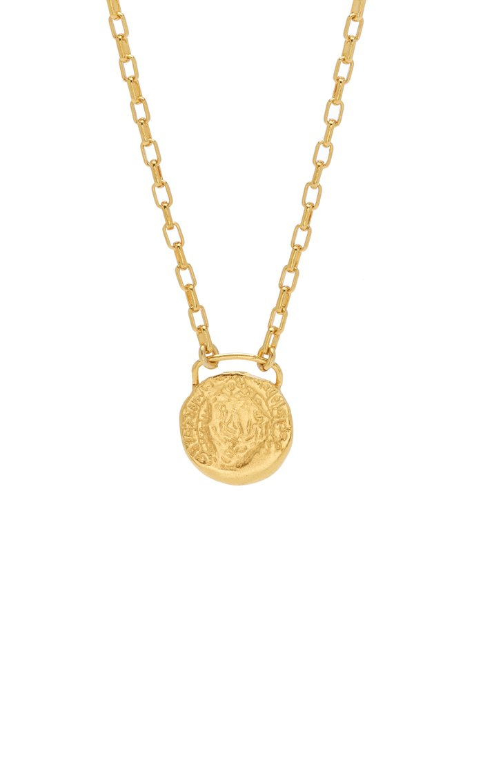 Coated Gold Coin Pendant Necklace