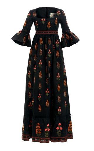 Ambar Dahlia Linen Maxi Dress