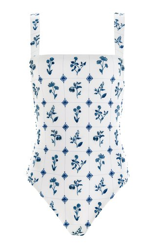 Café Loza-Hand Embroidered One-Piece Swimsuit