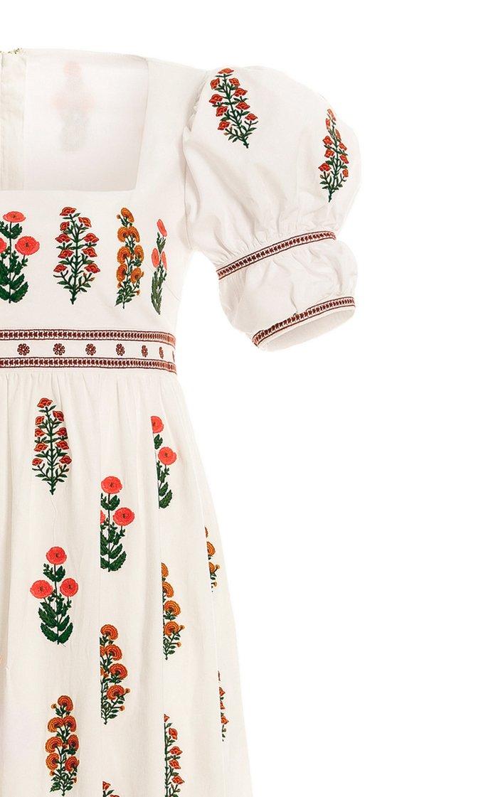 Pistacho Dahlia Linen Maxi Dress