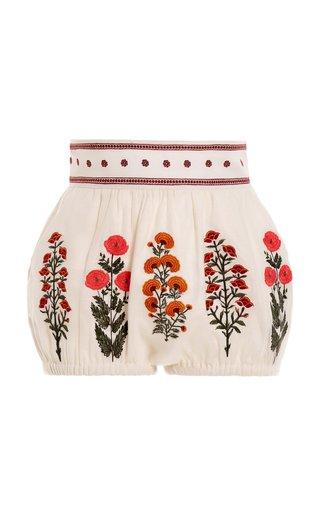 Lulo Dahlia Linen Mini Bubble Shorts