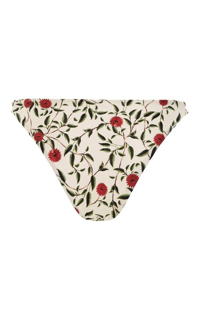 Vera High-Rise Hedera-Print Bikini Bottom