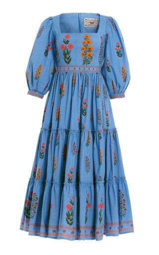 Miel Dahlia Cotton-Poplin Midi Dress