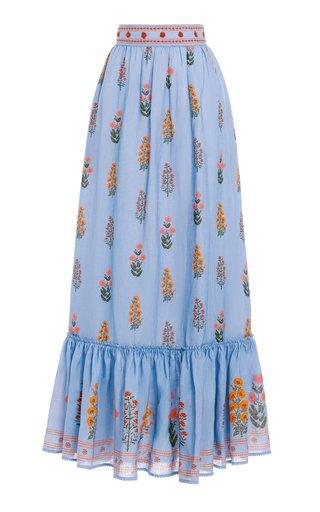 Algodon Dahlia Linen Maxi Skirt