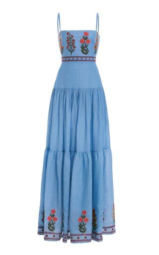 Lima Dahlia Linen Maxi Dress