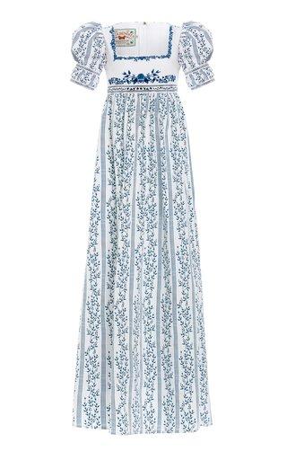 Pistacho Grosellas-Printed Poplin Dress