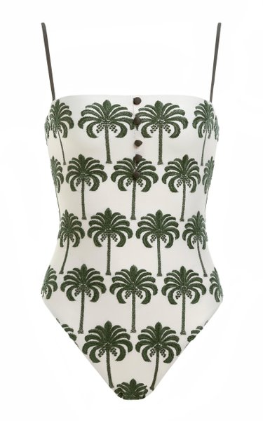 Durazno Cocora-Hand Embroidered One-Piece Swimsuit