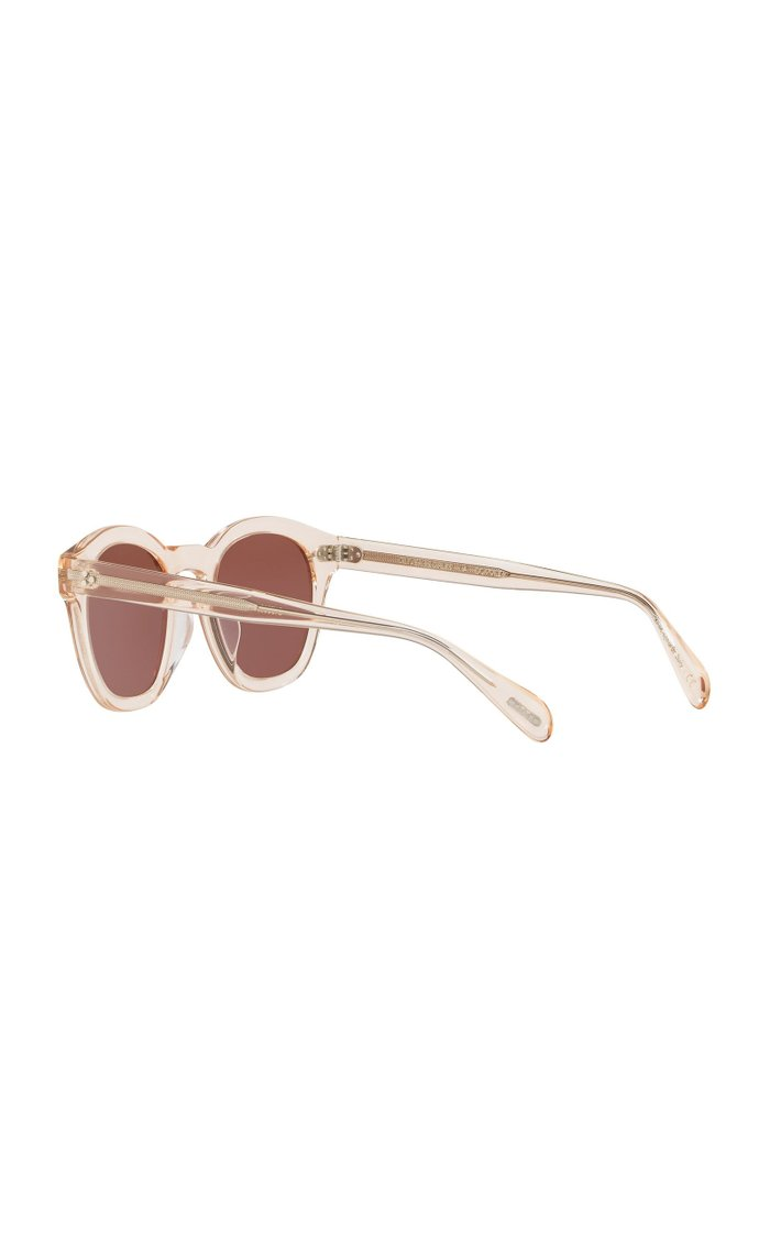 Boudreau Round-Frame Acetate Sunglasses