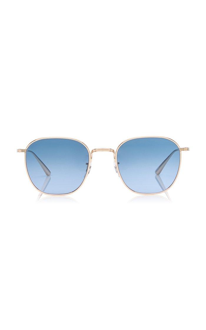 Board Meeting 2 Square-Frame Metal Sunglasses