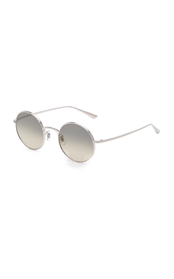 After Midnight Round-Frame Metal Sunglasses