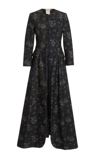 Sebastiana Floral Cotton Collarless Coat