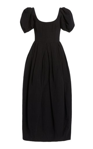 Salvina Cotton-Linen Midi Dress