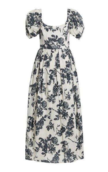 Salvina Floral Cotton Midi Dress