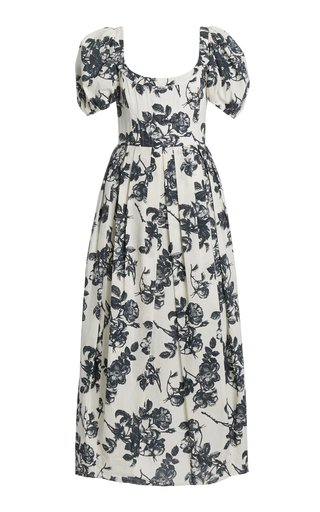 Salvina Floral Cotton Midi Dress