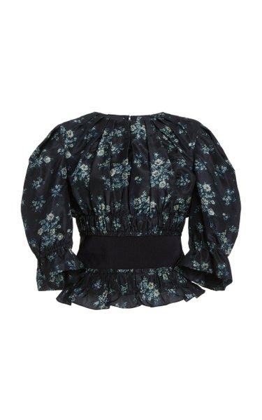 Soriana Floral Silk Top