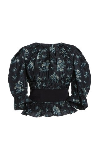 Soriana Floral Silk Top