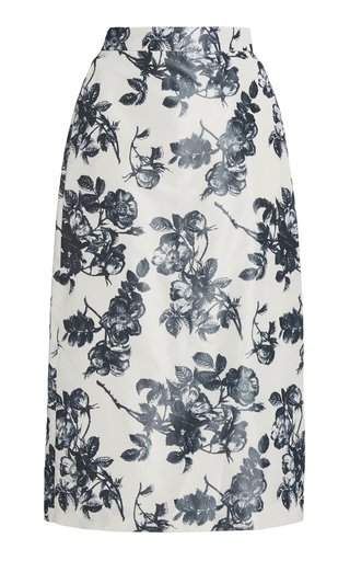 Stella Floral Cotton Pencil Skirt