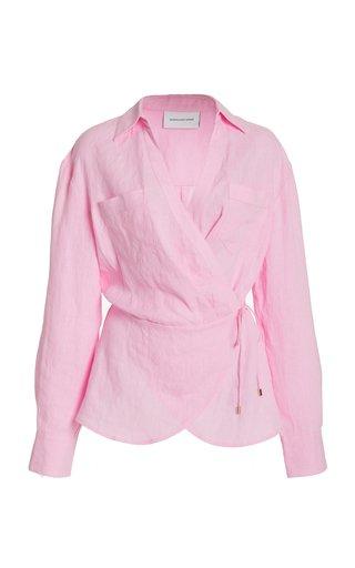 Savannah Linen Wrap Shirt