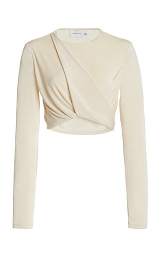 Evelyn Draped Jersey Cropped Top