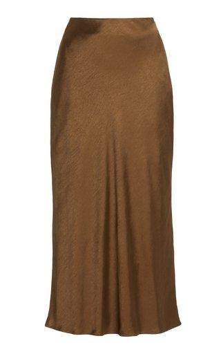 Emile Midi Satin Skirt