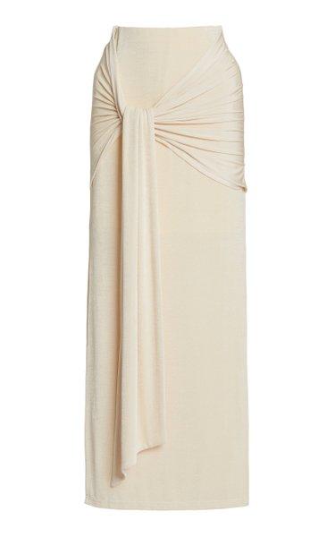 Jaffa Jersey Wrap-Effect Skirt